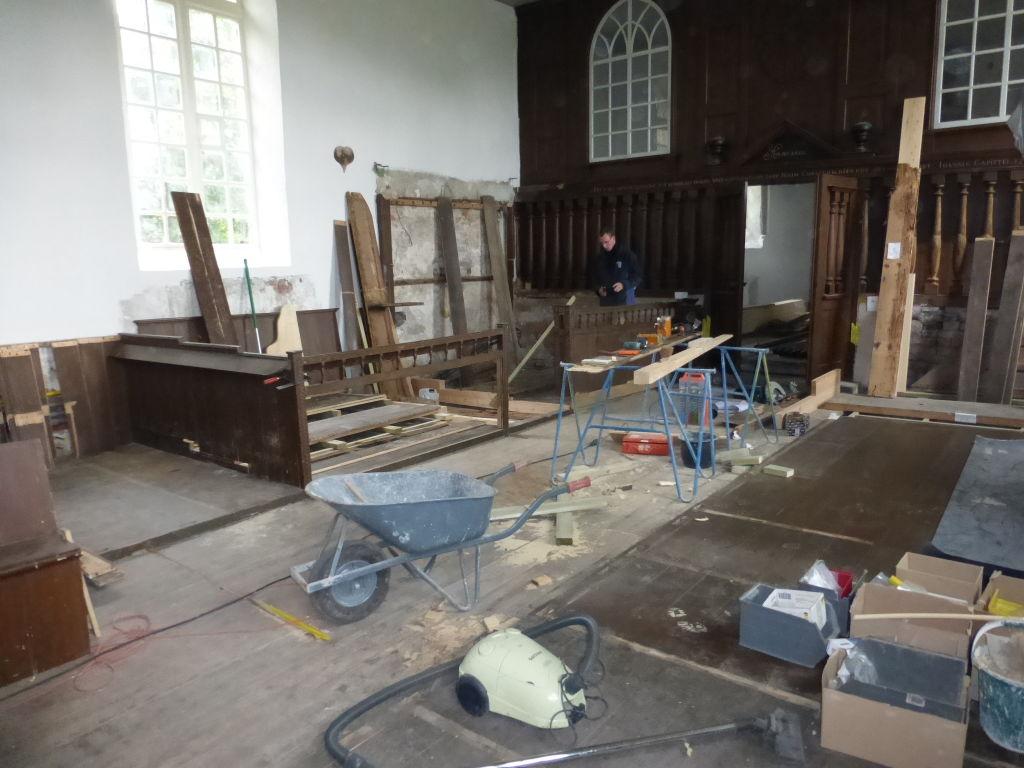 oude vloer en nieuwe planken