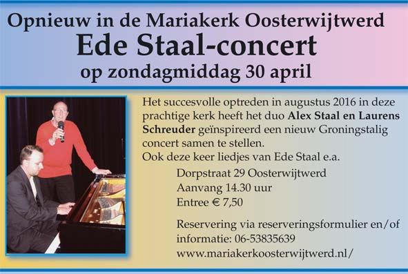 Ede Staal concert flyer