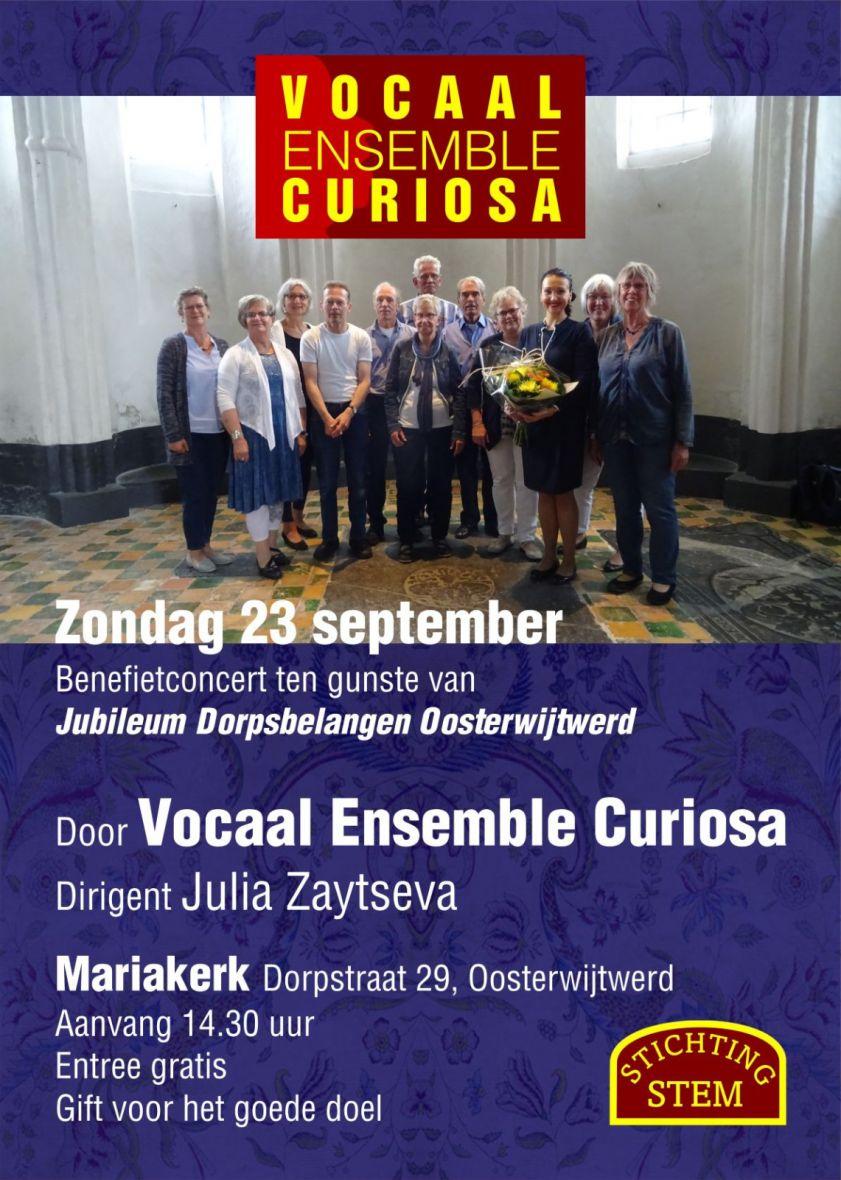 poster concert vocaal ensemble curiosa